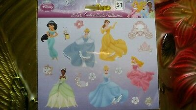 Disney Princess Stickers  2 Sheets New Sealed Stickers