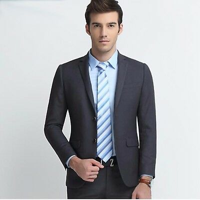 Men Suits Wedding Groom Suit Slim Fit Business Dinner Party Suit Man Jacket Gery