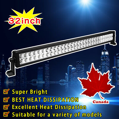 32inch 180W Flood Spot Combo Led Work Light Bar Driving Offroad SUV Truck Jeep30