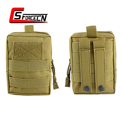 1000D Outdoor Military Tactical Molle Waist Bag Pack Tool Ammo Medical Pouch Tan