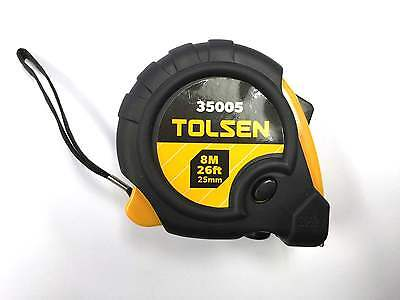 Measuring Tape Tolsen 8M x 25mm **NEW** Metric SAE Imperial Ruler Retractable