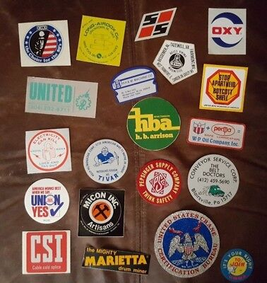 Lot of 20 Misc Coal Mining Stickers and Decals