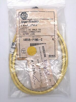 Allen Bradley 1485R-P1M5-C Cordset Mini-Line Male to Tinned Conductors 1M
