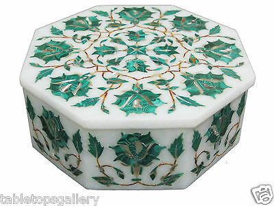 5 x3 5 x2 White Marble Jewelry Storage Box Mosaic Inlaid Marquetry Gifts H2261