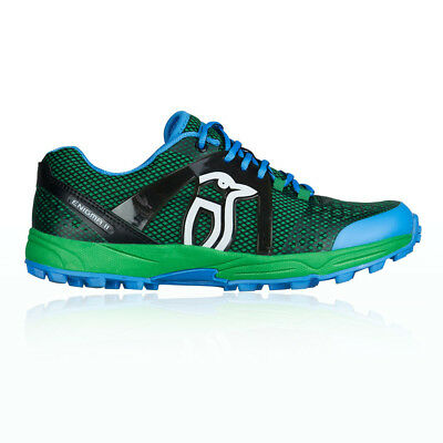 Kookaburra Enigma II Mens Blue Green Hockey Court Sports Shoes Trainers