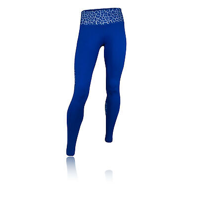 Higher State Panelled Womens Blue Long Running Tights Bottoms Pants