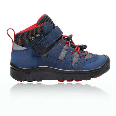 Keen Hikesport Mid Junior Red Blue Waterproof Camping Hiking Shoes Boots