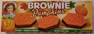 NEW Little Debbie 2017 Brownie Pumpkins 5 Count FREE WORLDWIDE SHIPPING