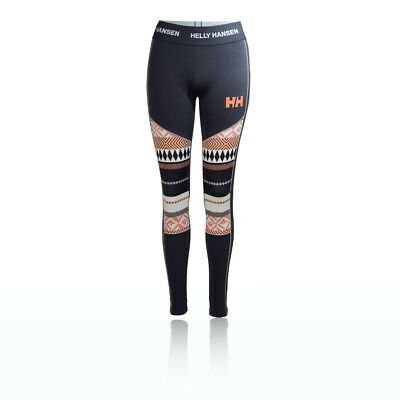 Helly Hansen HH Lifa Active Graphic Womens Blue Running Gym Long Tights Pants