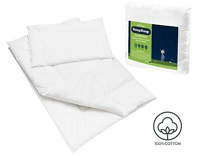 BABY QUILTED DUVET 150x120 cm & PILLOW 100% COTTON JUNIOR BED FILLING
