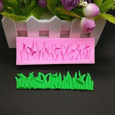 Grass Cake Sugarcraft Cookie Fondant Mould Decorating Cutter Kitchen Silicone #n