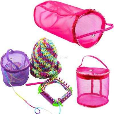 Knitting Mesh Yarn Case Storage Basket Bag Handwork Tool Organizer Pouch Holder