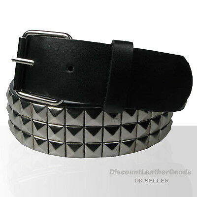 Cheap Gothic 40mm Unisex Wear Pyramid Stud Removable Buckle Belt UK SELLER Y002