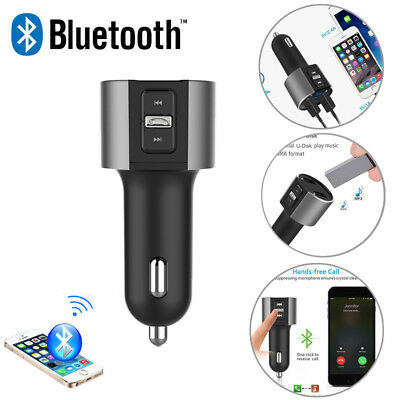 Bluetooth V2.1 Hands-free Car Kit MP3 FM Transmitter Dual USB Charger for Phones