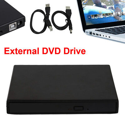 Portable SATA TO USB 2.0 External CD/DVD ROM Drive Case For Laptop PC UL WY6
