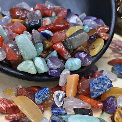 100g Colorful Natural Quartz Crystal Mini Stone Rock Chips Healing Specimens Lot