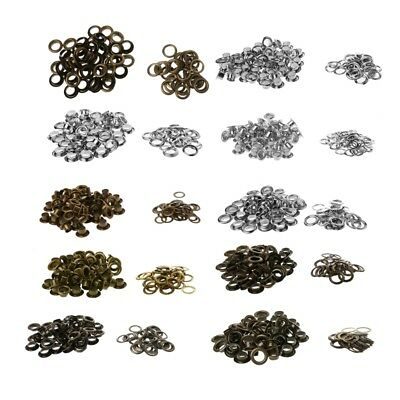 DIY 100Pcs 5/6/8/10/12mm Metal Eyelets Grommet Scrapbook Stamping Leather Craft