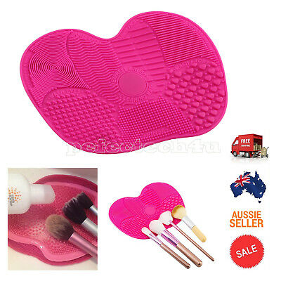 Silicone Makeup Brush Cleaning Pad Cosmetic Washing Scrubber Board Mat Cleaner