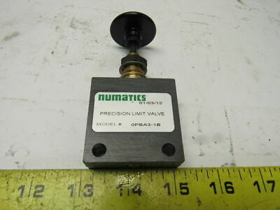 "Numatics OPBA3-1B 1/8"" Precision Push Button Shuttle Pneumatic 2- Way Valve"