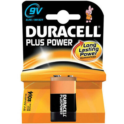 1 x Duracell Plus Alkaline 9v Battery 6LR61 MN1604