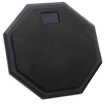 """Drum Percussion Practice Exercise Pad 8"""" Octagonal Shape Support Mountable Black"""