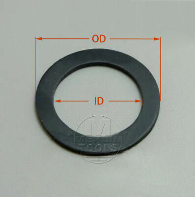 Select Size ID 95mm - 100mm Black Fluororubber  O-Ring Gaskets Washer 1mm Thick
