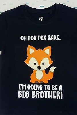 Big Brother T-shirt, for fox sake, going to be a big brother, birth announcement