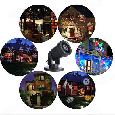 12-Type Xmas Landscape Garden Yard Lamp LED Moving Laser Projector Light Outdoor
