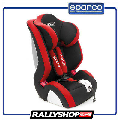 Sparco Child Seat F1000 K RED ECE Homologation Safety Auto Car Baby Secure Drive