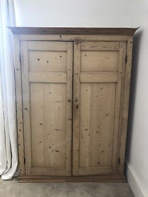 Antique Pine Larder / Linen Cupboard