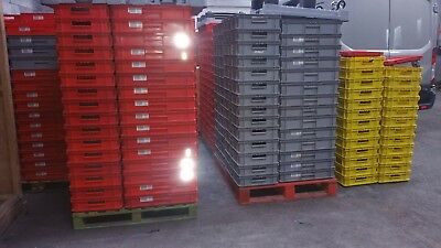 Used Schafer EF 6120/6140 rigid plastic order picking/storage tote bins/trays