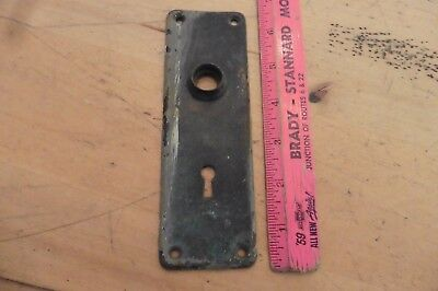 Door Plate Key hole Knob Vintage antique backplate art deco brass