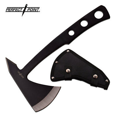 Perfect Point Hand Camping Bushcraft & Throwing Axe with Black Nylon Sheath