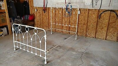 "Antique Cast Iron Bed ""very Old"""