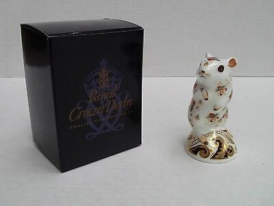 Royal Crown Derby Paperweight - Gerbil (Height 10.5cm)