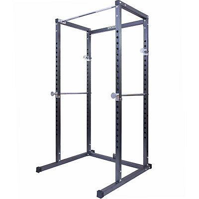Gym Master Power Cage Squat Rack Weight Lifting Bench Stand & Multi Pull Up Bar