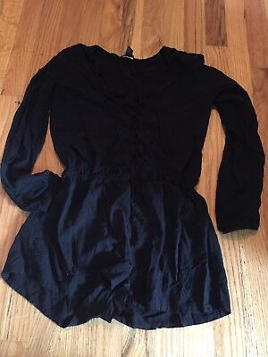 Forever 21 Romper Size Small Black. Vneck Lace Up NWOT
