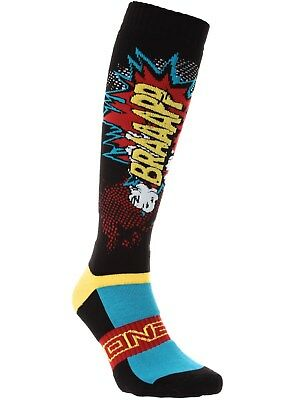 ONeal Black-Multi 2018 Pro Braaaapp MX Socks