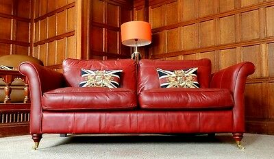 Victorian Style Brandy Tan Red Antique Leather Chesterfield 2/3 Seater Club Sofa