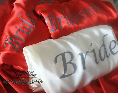 Customised Bride Bridesmaid Robes Bridal Dressing Gowns Wedding Satin Robes