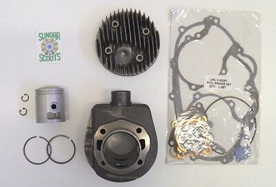 3 Port Cast Cylinder Kit & Alloy' Head For Vespa Px / Lml 125/150 Scooters