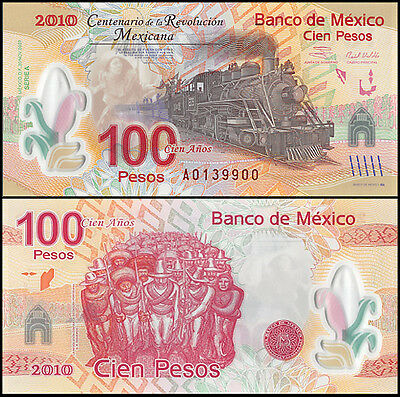Mexico 100 Pesos, 2007, P-128, UNC, Series-A, Polymer Note