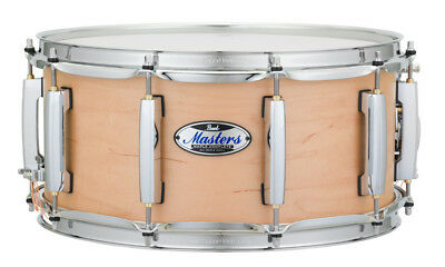 Pearl Masters Maple Complete Snare Drum 14x6.5 Matte Natural Maple
