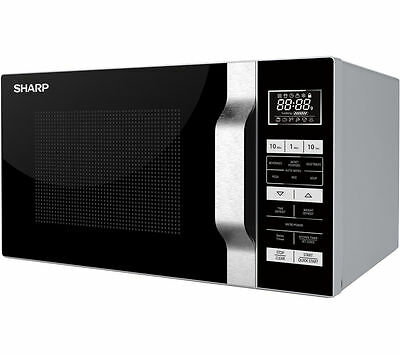 Sharp R-760SLM Microwave Oven with Grill 23L 900W Power (MC22)