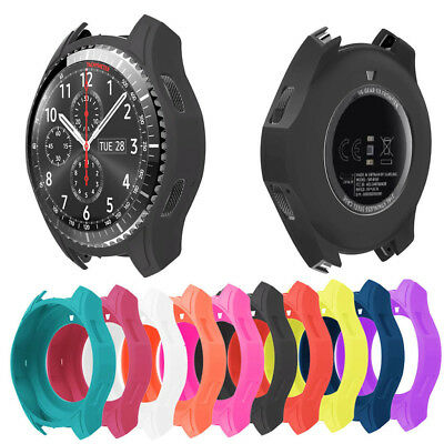 Many Color Silicone protector Slim Skin Cover Case For Samsung Gear S3 Frontier