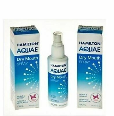 Hamilton Aquae Dry Mouth Spray 100Ml