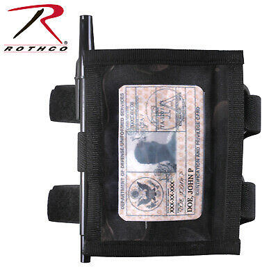 Black Military ID Armband Identification Holder 1259 Rothco
