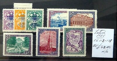 LATVIA 1925 - 8 Stamps As Described Mounted Mint NB3287
