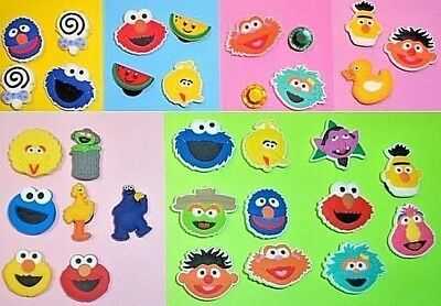 Sesame Street Character Shoe Charms Kids Sets put in your Crocs, Wristbands