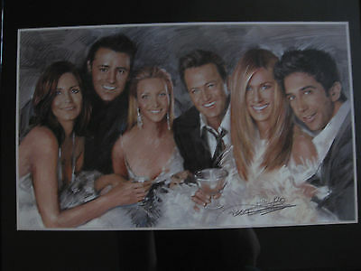 2004 Friends Tv Show Print By Haiyan - 16 X 20 Inches FRAMED AND SIGNED